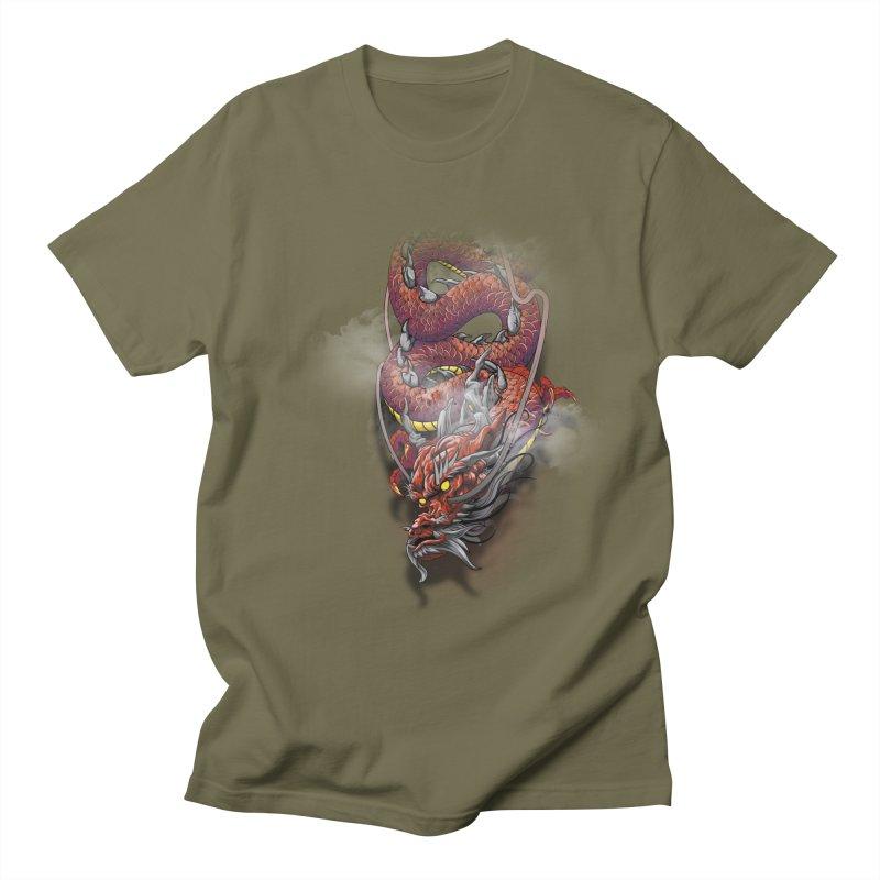 Red Japanese dragon Women's Regular Unisex T-Shirt by fishark's Artist Shop