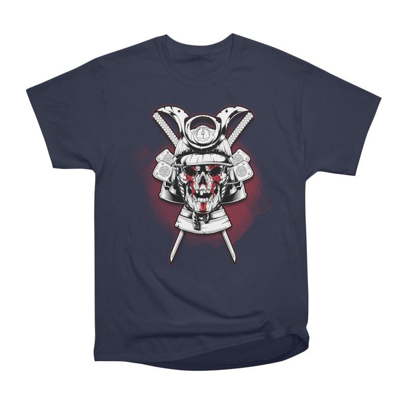 skull samurai Women's Heavyweight Unisex T-Shirt by fishark's Artist Shop