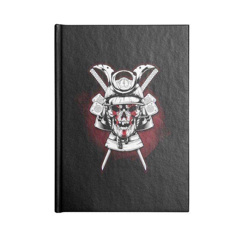 skull samurai Accessories Blank Journal Notebook by fishark's Artist Shop