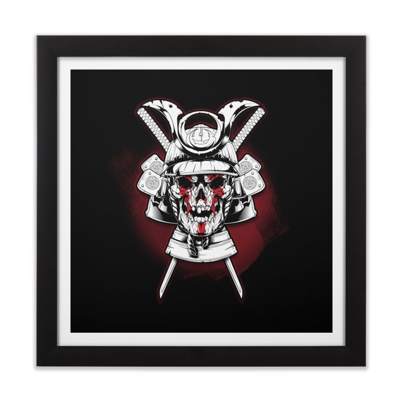 skull samurai Home Framed Fine Art Print by fishark's Artist Shop
