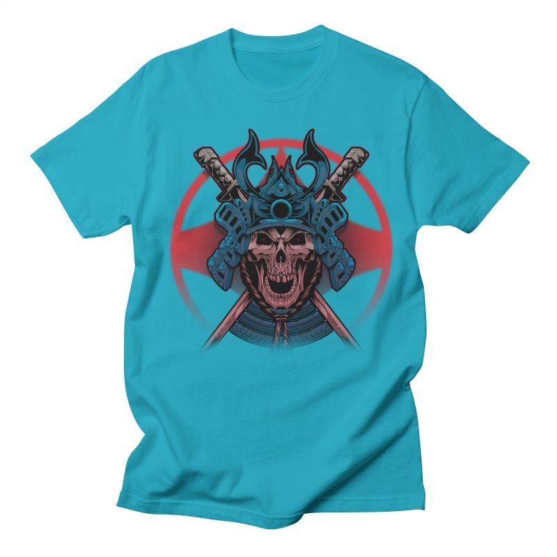 skull samurai Women's Regular Unisex T-Shirt by fishark's Artist Shop