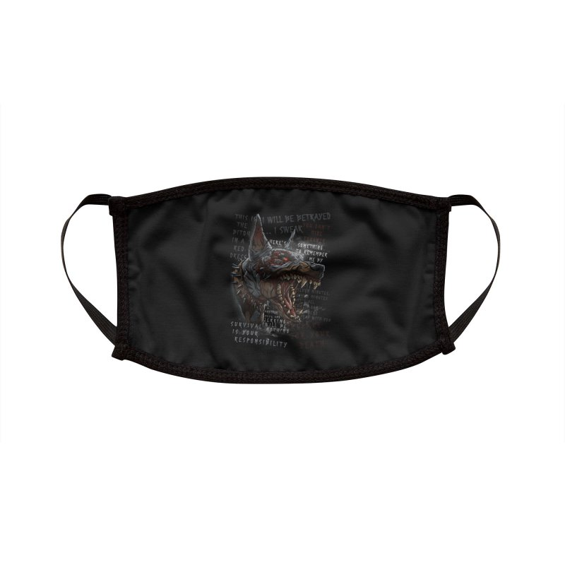 Evil cyber dog Accessories Face Mask by fishark's Artist Shop