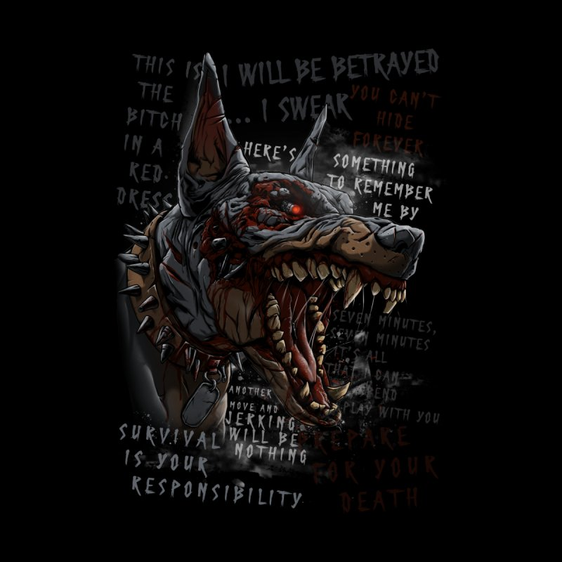 Evil cyber dog Women's V-Neck by fishark's Artist Shop