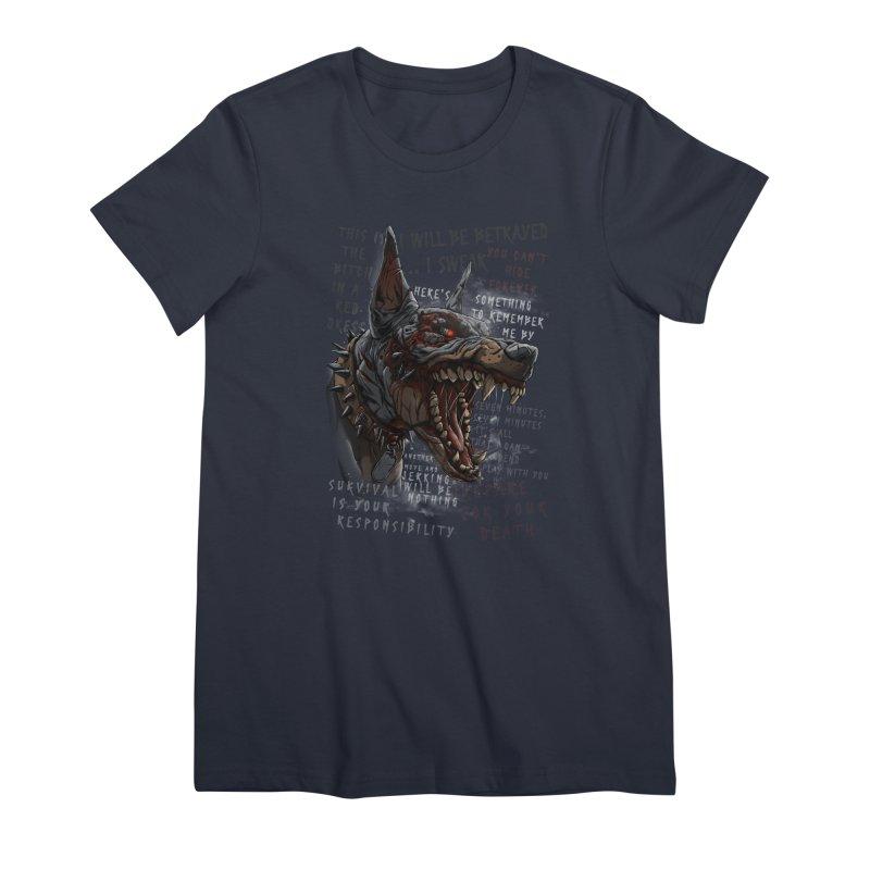 Evil cyber dog Women's T-Shirt by fishark's Artist Shop