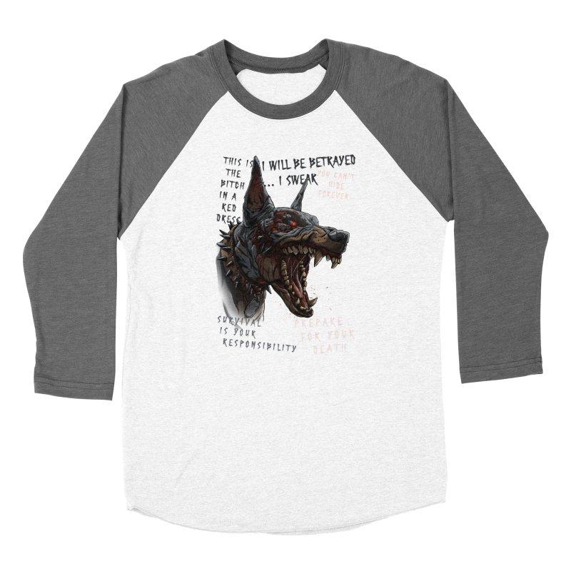 Evil cyber dog Women's Longsleeve T-Shirt by fishark's Artist Shop
