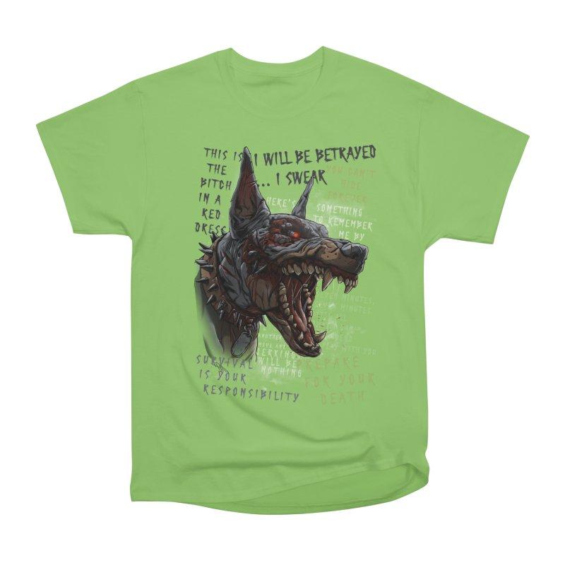 Evil cyber dog Women's Heavyweight Unisex T-Shirt by fishark's Artist Shop