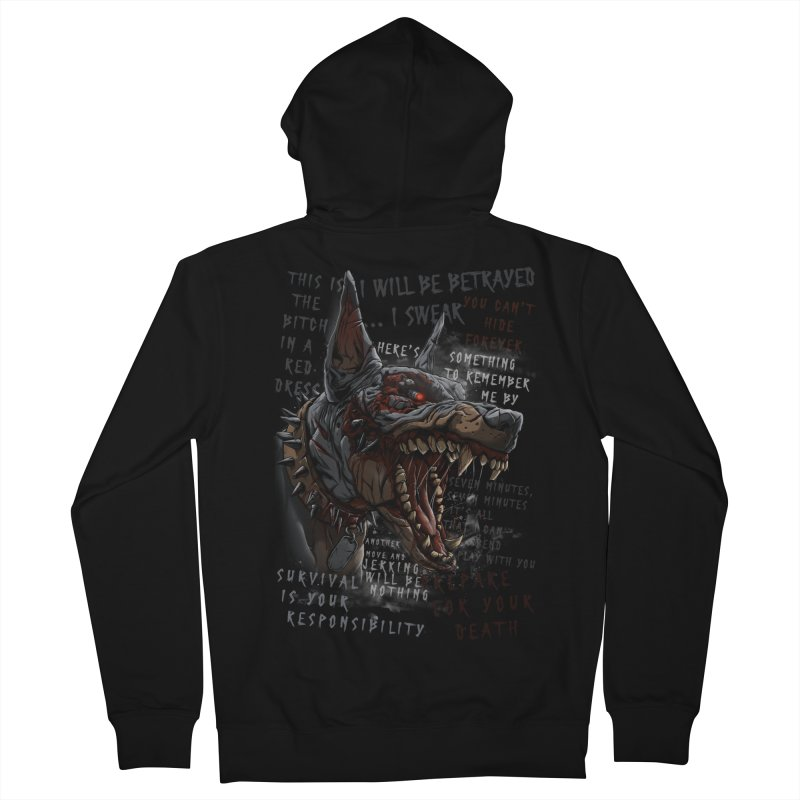 Evil cyber dog Men's French Terry Zip-Up Hoody by fishark's Artist Shop