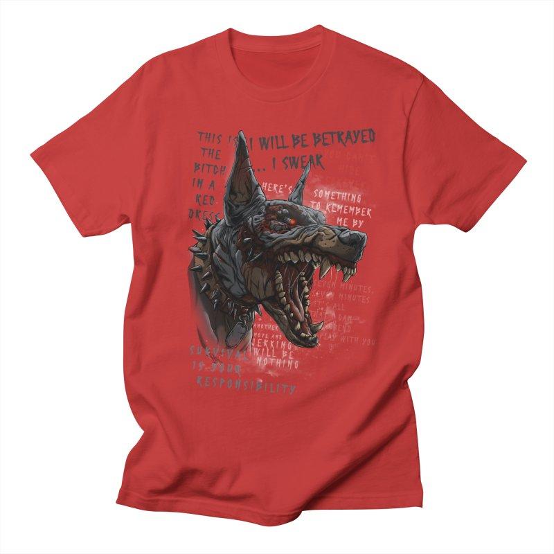 Evil cyber dog Women's Regular Unisex T-Shirt by fishark's Artist Shop