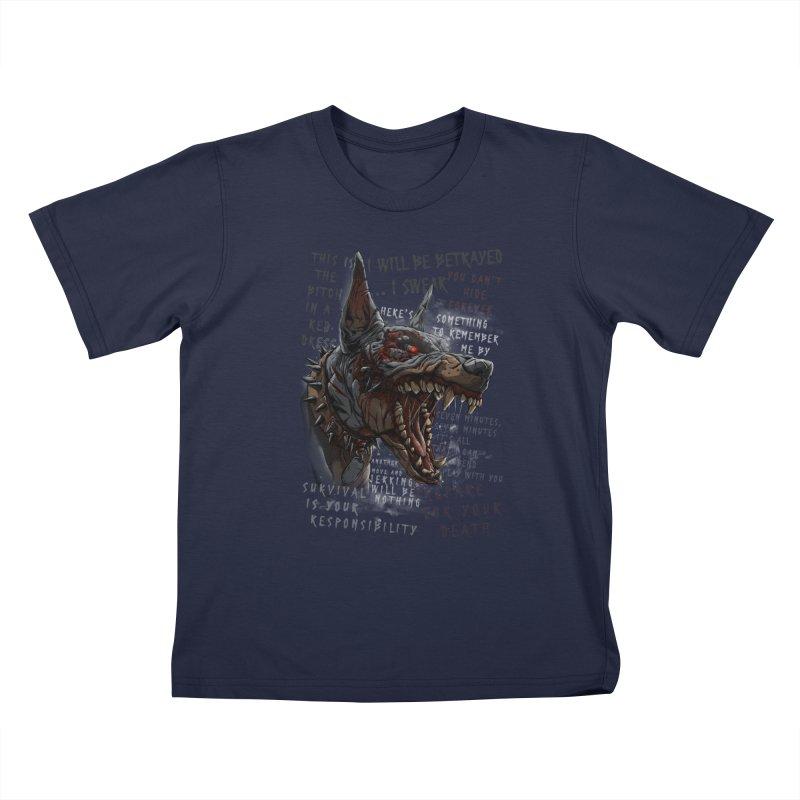 Evil cyber dog Kids T-Shirt by fishark's Artist Shop