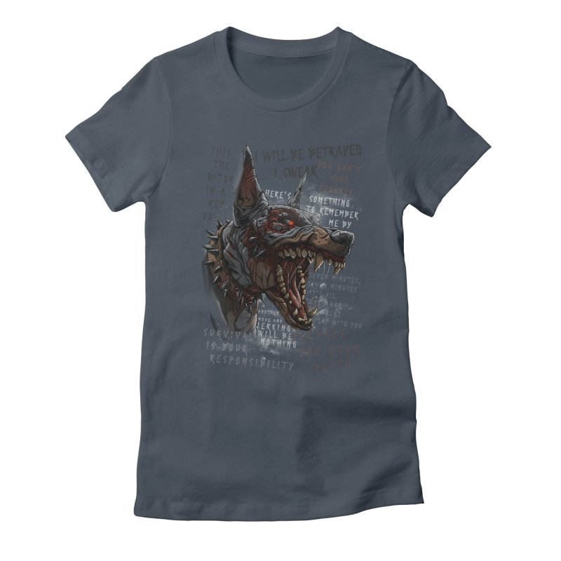 Evil cyber dog Women's T-Shirt by fishark's Artist Shop