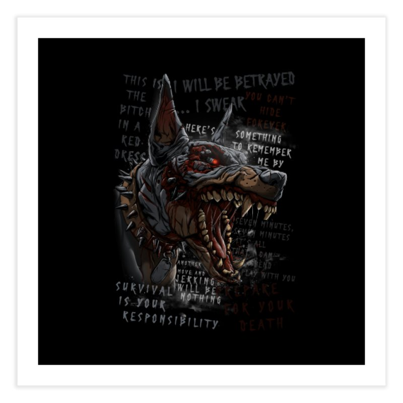 Evil cyber dog Home Fine Art Print by fishark's Artist Shop