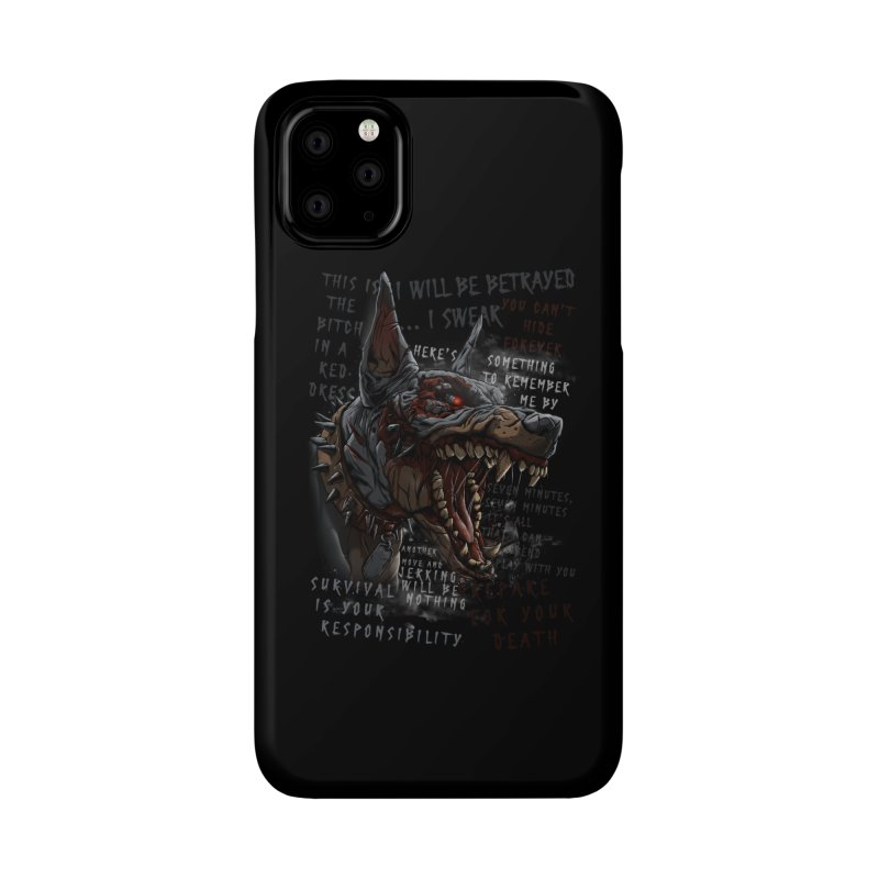 Evil cyber dog Accessories Phone Case by fishark's Artist Shop