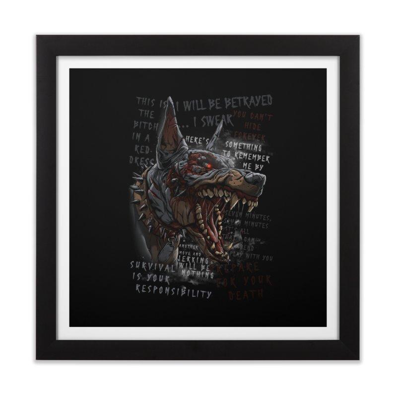 Evil cyber dog Home Framed Fine Art Print by fishark's Artist Shop