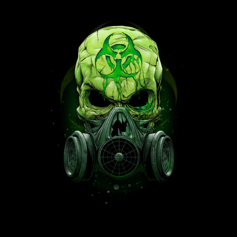 skull biohazard Home Fine Art Print by fishark's Artist Shop