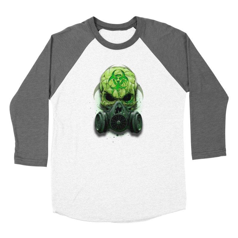 skull biohazard Women's Longsleeve T-Shirt by fishark's Artist Shop
