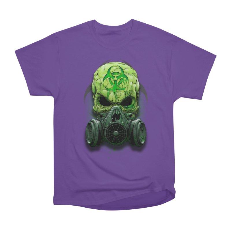 skull biohazard Women's Heavyweight Unisex T-Shirt by fishark's Artist Shop