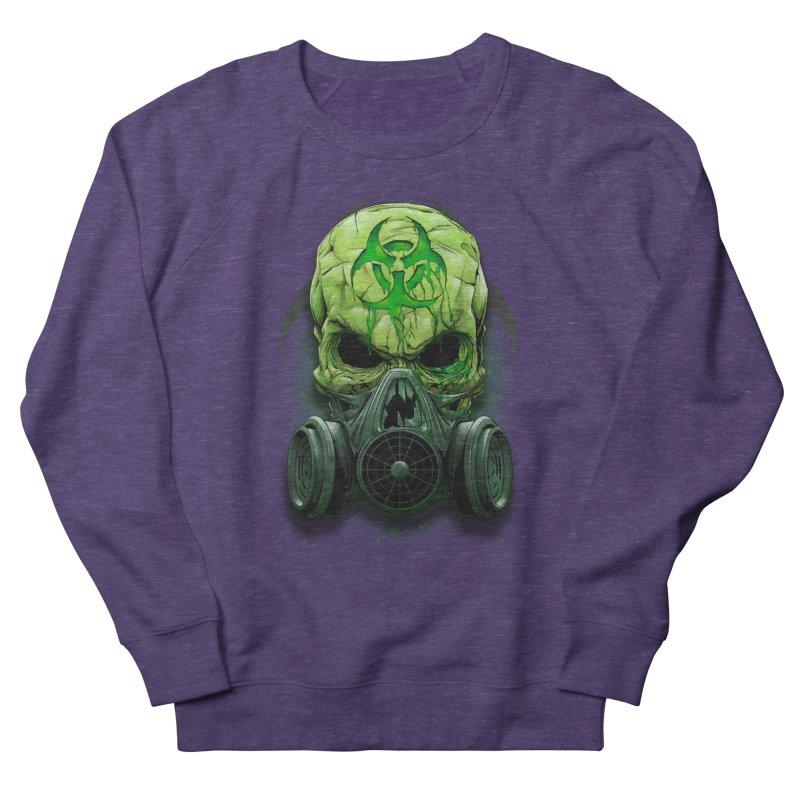 skull biohazard Men's French Terry Sweatshirt by fishark's Artist Shop