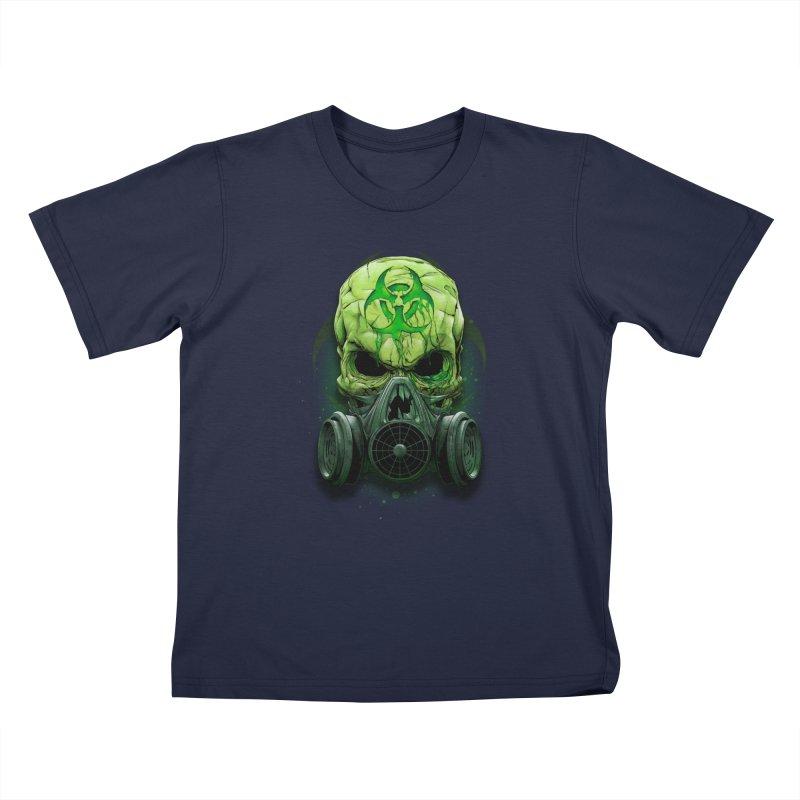 skull biohazard Kids T-Shirt by fishark's Artist Shop