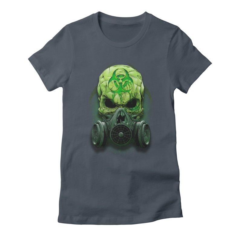 skull biohazard Women's T-Shirt by fishark's Artist Shop