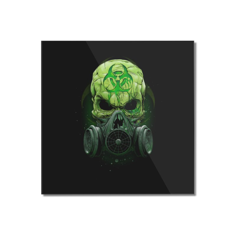 skull biohazard Home Mounted Acrylic Print by fishark's Artist Shop