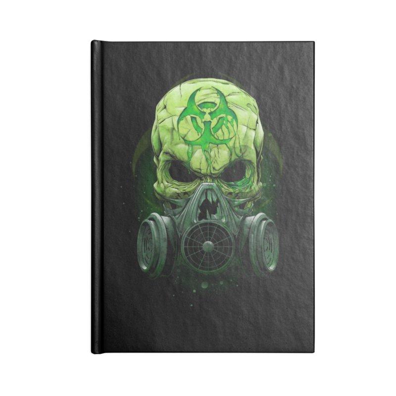 skull biohazard Accessories Blank Journal Notebook by fishark's Artist Shop
