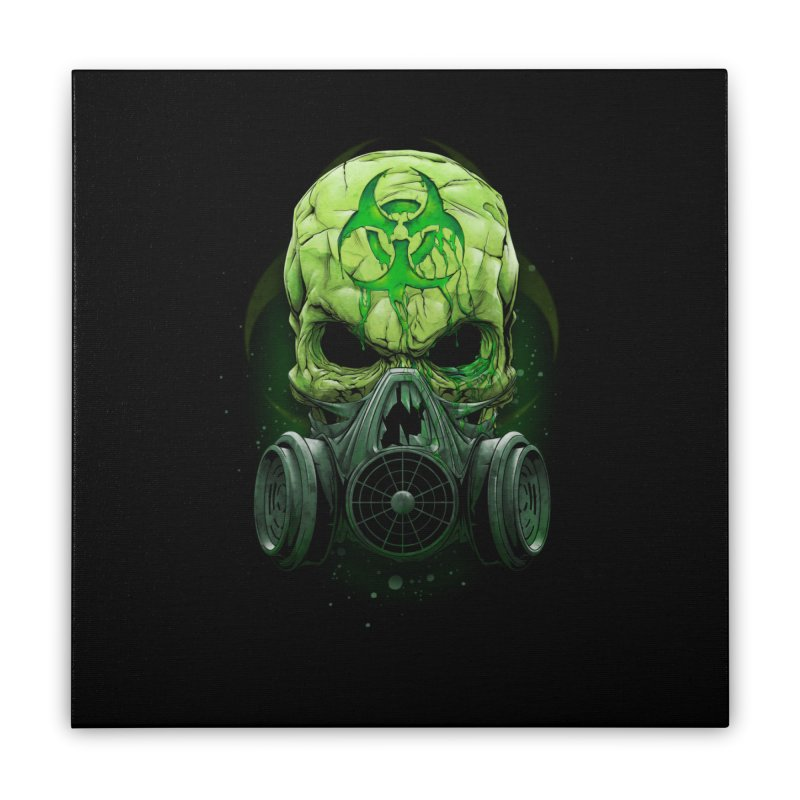 skull biohazard Home Stretched Canvas by fishark's Artist Shop