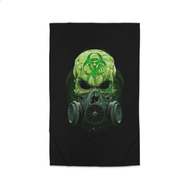skull biohazard Home Rug by fishark's Artist Shop