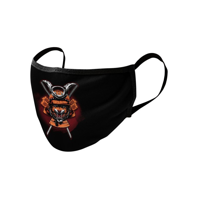 Tiger samurai Accessories Face Mask by fishark's Artist Shop