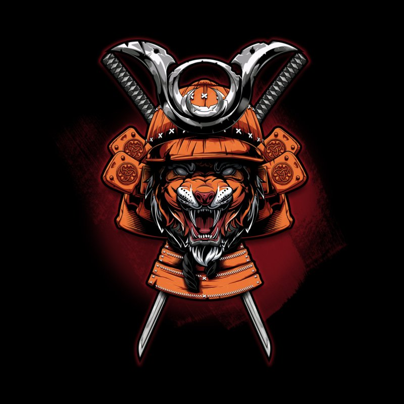 Tiger samurai Kids Baby Longsleeve Bodysuit by fishark's Artist Shop