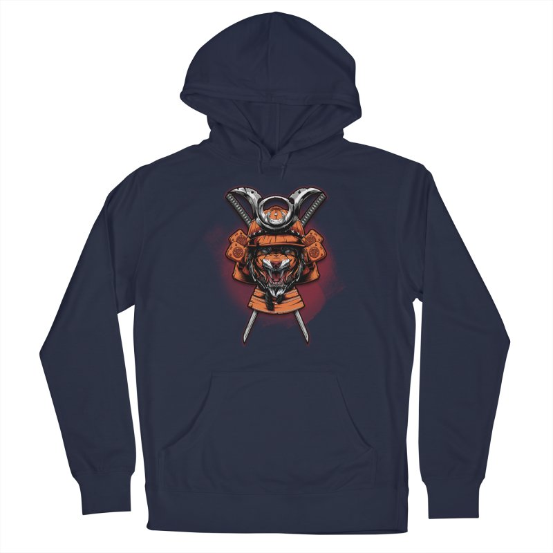Tiger samurai Men's Pullover Hoody by fishark's Artist Shop
