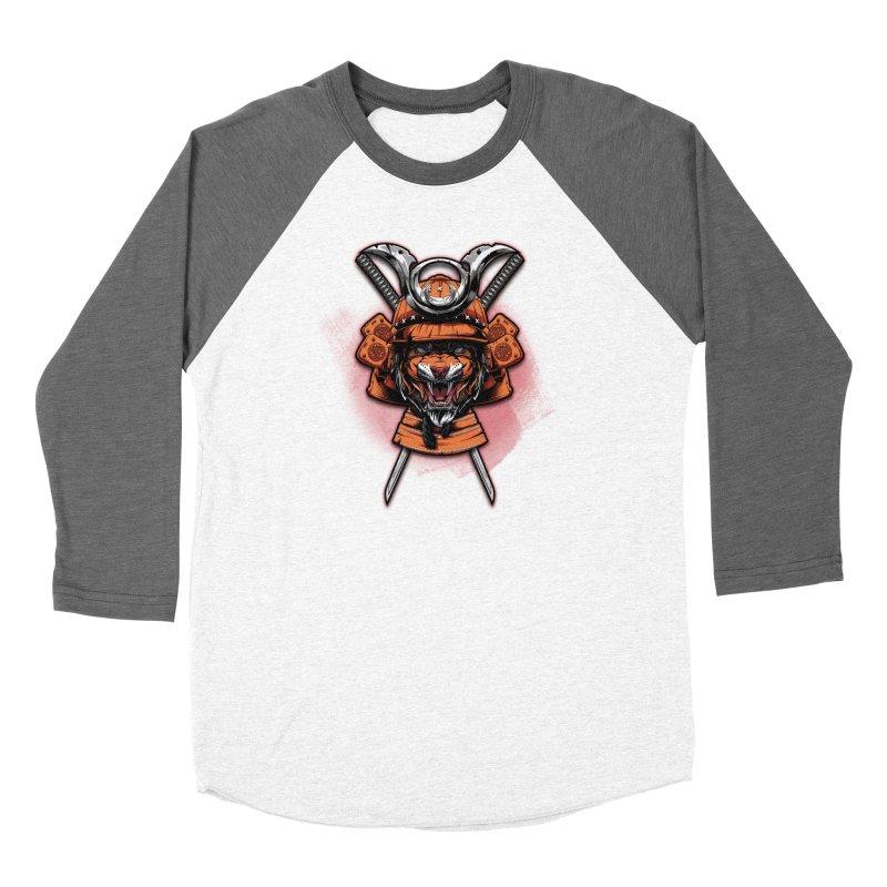 Tiger samurai Women's Longsleeve T-Shirt by fishark's Artist Shop