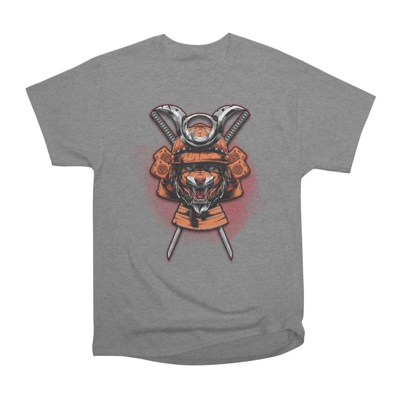 Tiger samurai Women's Heavyweight Unisex T-Shirt by fishark's Artist Shop