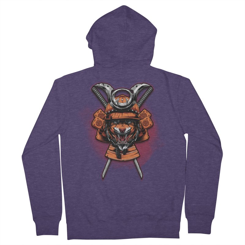 Tiger samurai Men's Zip-Up Hoody by fishark's Artist Shop