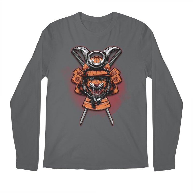 Tiger samurai Men's Longsleeve T-Shirt by fishark's Artist Shop