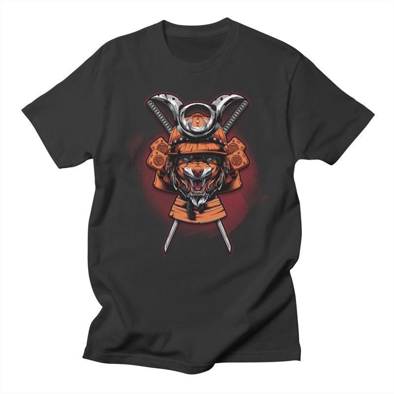 Tiger samurai Men's T-Shirt by fishark's Artist Shop