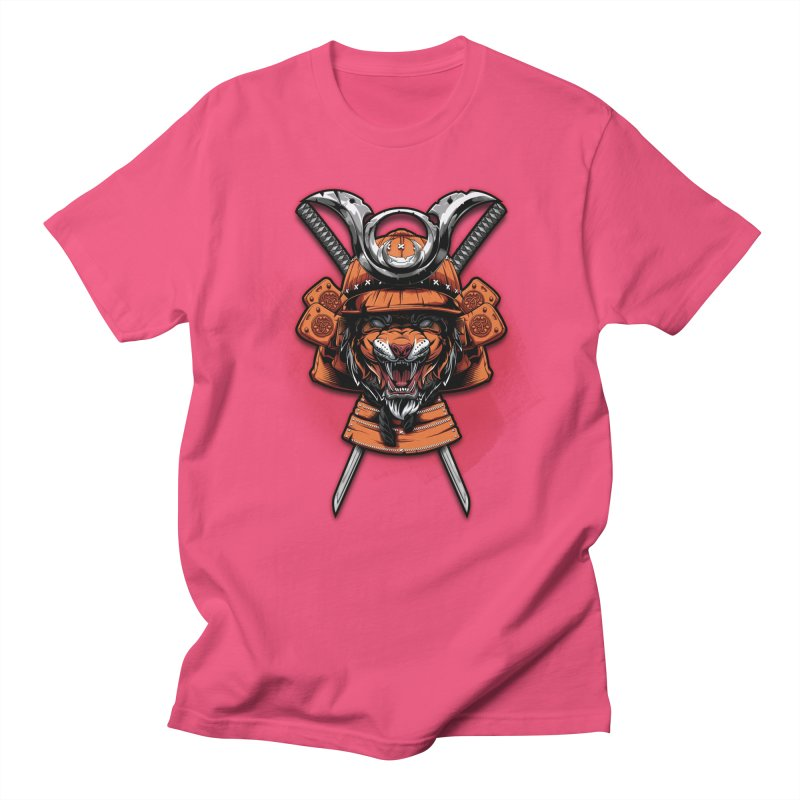 Tiger samurai Men's T-Shirt by fishark's Artist Shop