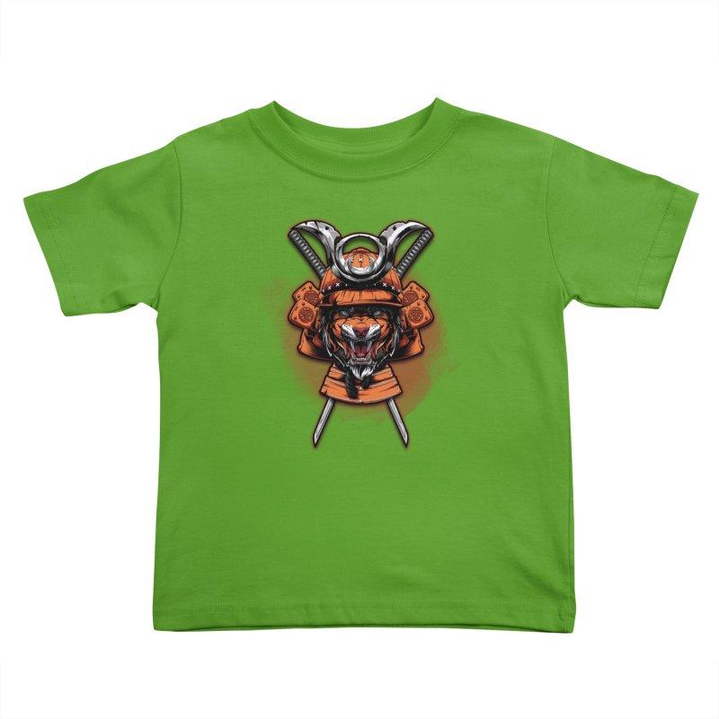 Tiger samurai Kids Toddler T-Shirt by fishark's Artist Shop