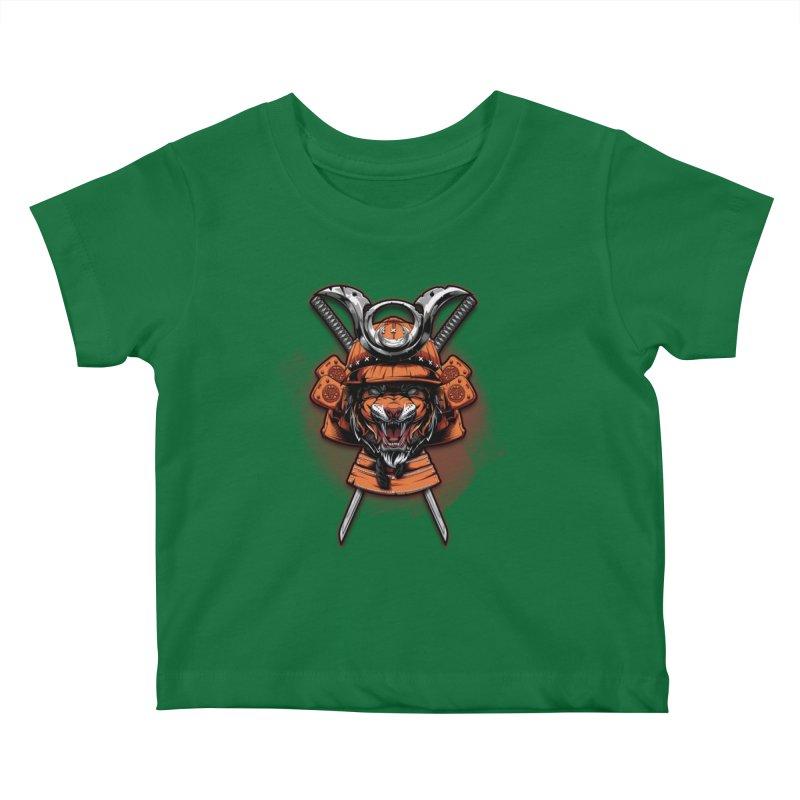 Tiger samurai Kids Baby T-Shirt by fishark's Artist Shop