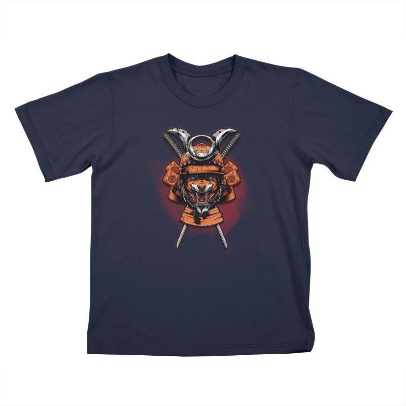 Tiger samurai Kids T-Shirt by fishark's Artist Shop