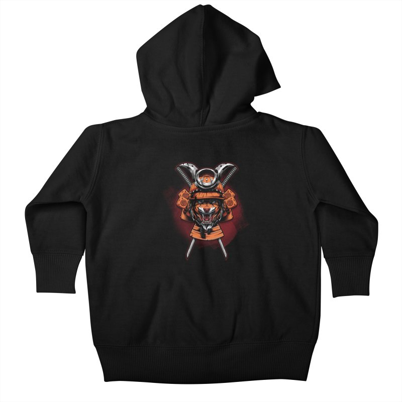Tiger samurai Kids Baby Zip-Up Hoody by fishark's Artist Shop