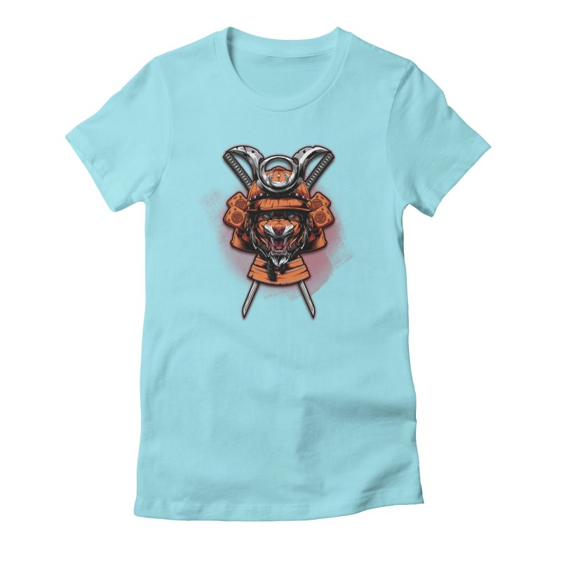 Tiger samurai Women's T-Shirt by fishark's Artist Shop