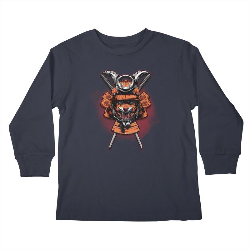 Tiger samurai Kids Longsleeve T-Shirt by fishark's Artist Shop
