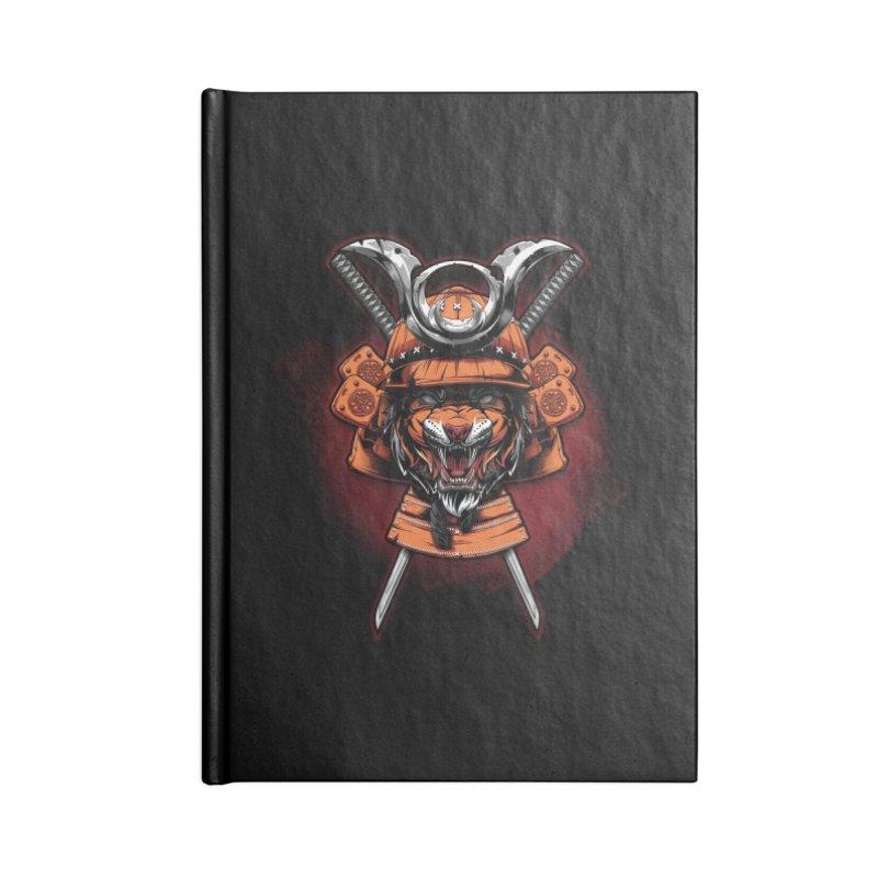 Tiger samurai Accessories Notebook by fishark's Artist Shop