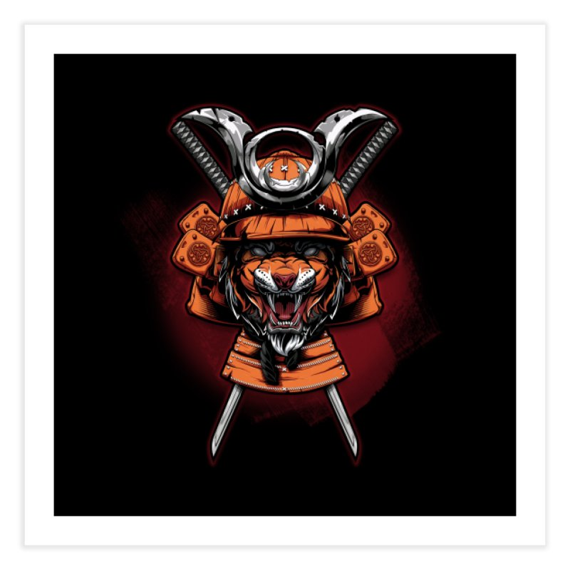 Tiger samurai Home Fine Art Print by fishark's Artist Shop