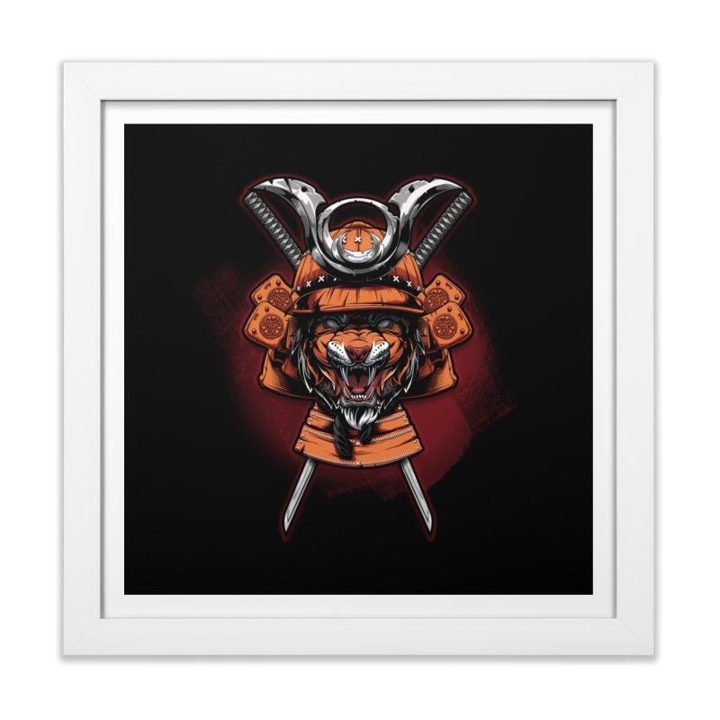 Tiger samurai Home Framed Fine Art Print by fishark's Artist Shop