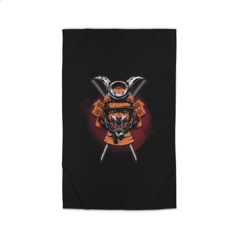 Tiger samurai Home Rug by fishark's Artist Shop