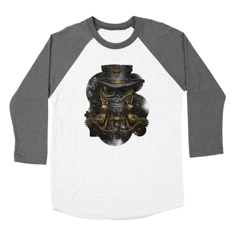 steampunk skull Women's Longsleeve T-Shirt by fishark's Artist Shop