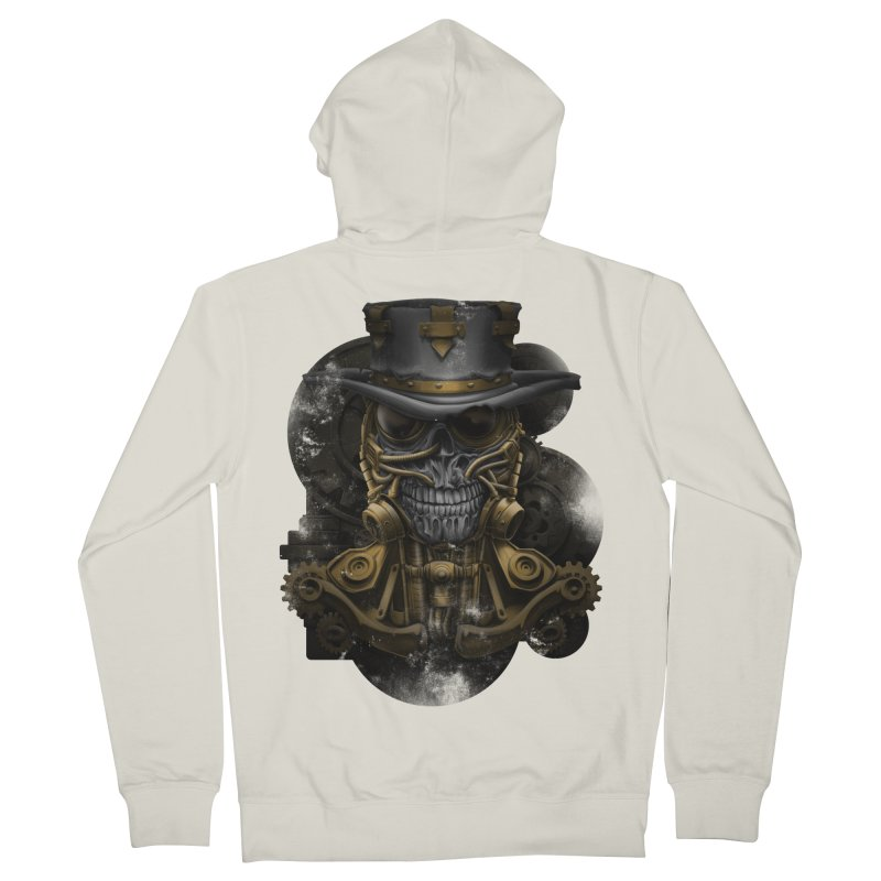 steampunk skull Men's French Terry Zip-Up Hoody by fishark's Artist Shop