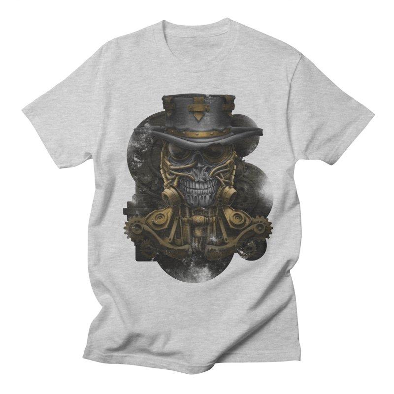 steampunk skull Women's Regular Unisex T-Shirt by fishark's Artist Shop