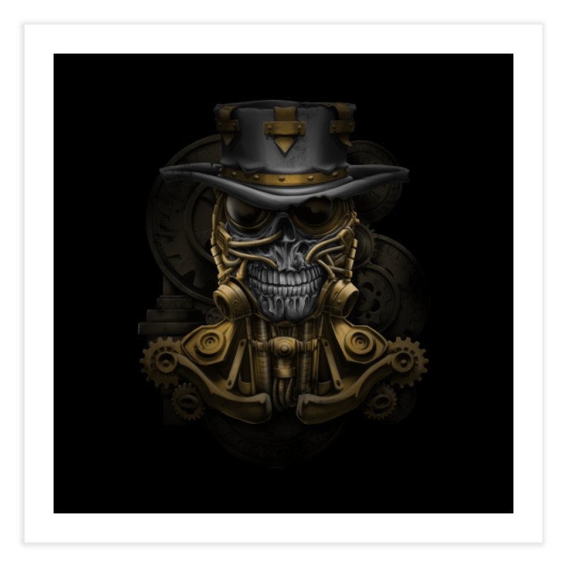 steampunk skull Home Fine Art Print by fishark's Artist Shop